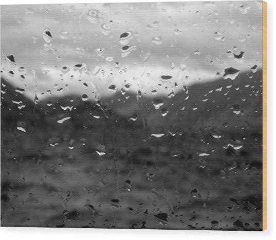 Rain And Wind Wood Print