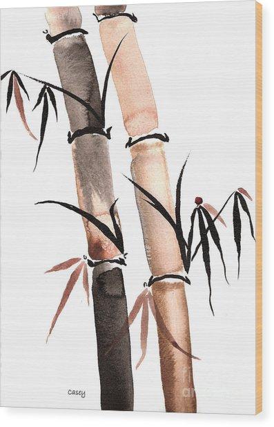 Rain Bamboo Wood Print
