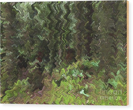 Rain Forest Abstract Wood Print