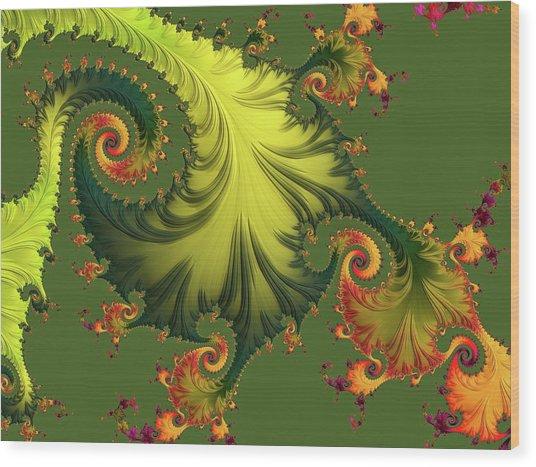 Wood Print featuring the digital art Rain Forest by Susan Maxwell Schmidt