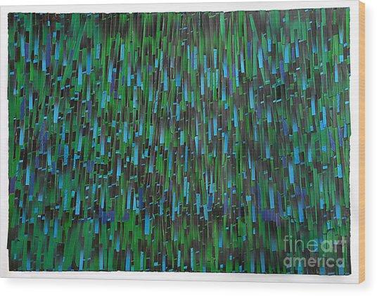 Rain Wood Print by Ken Falana