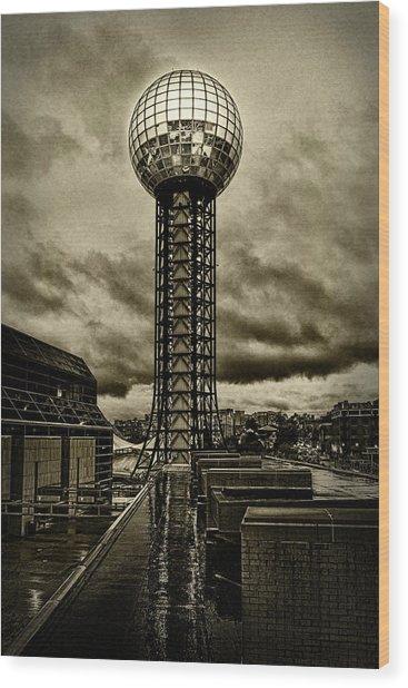 Rain On The Sunsphere Wood Print by Sharon Popek