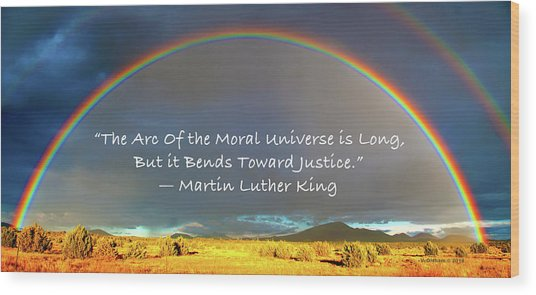 Martin Luther King - Justice Wood Print