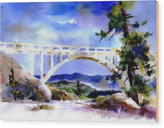 Rainbow Bridge Above Donnerlk#2 Wood Print