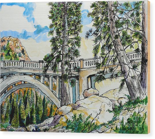 Rainbow Bridge At Donner Summit Wood Print