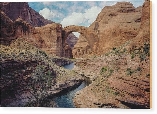 90117 Rainbow Bridge Wood Print