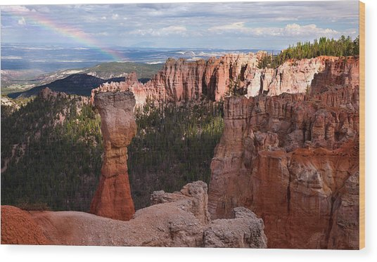 Rainbow Bryce Canyon Wood Print