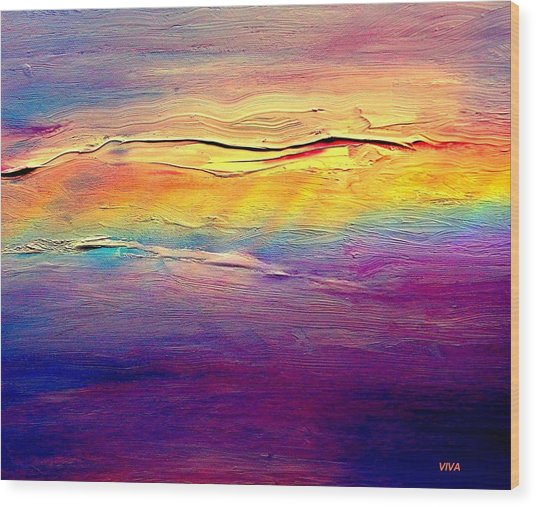 Rainbow Clouds Full Spectrum -dedicated                     Wood Print