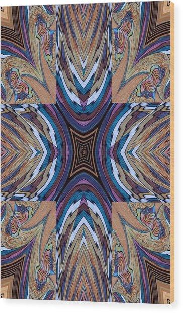 Rainbow Cross Wood Print by Ricky Kendall