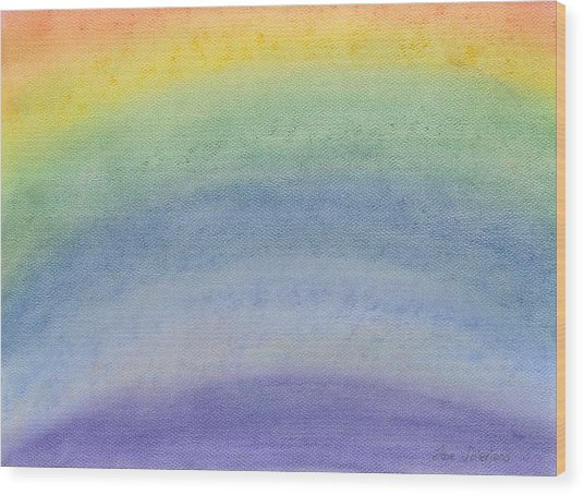Rainbow Day Wood Print