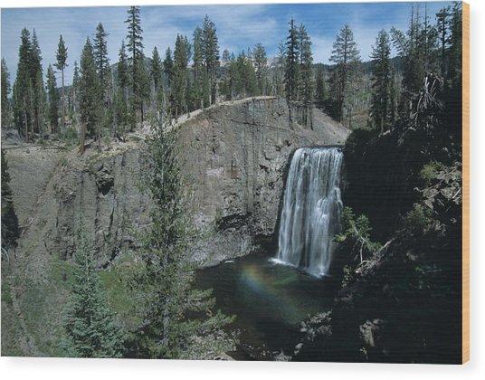 Rainbow Falls California Wood Print