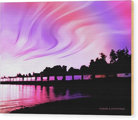 Rainbow Fantasy Wood Print