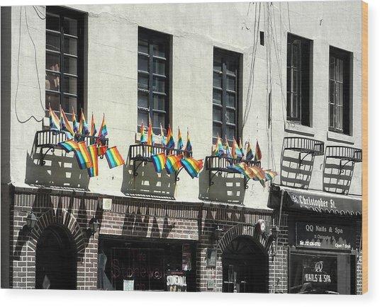 Rainbow History Wood Print by Dan Stone