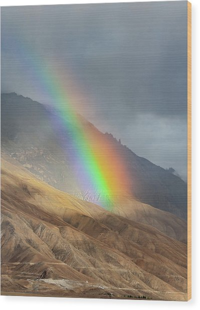 Rainbow, Kaza, 2008 Wood Print
