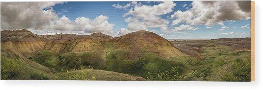 Rainbow Mountain Wood Print