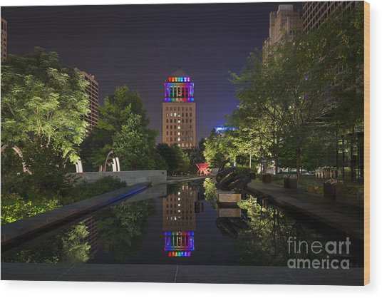 Rainbow Lights Wood Print