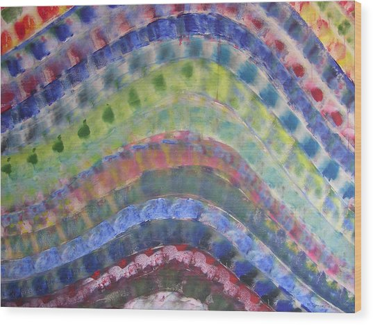 Rainbow Wood Print by Russell Simmons