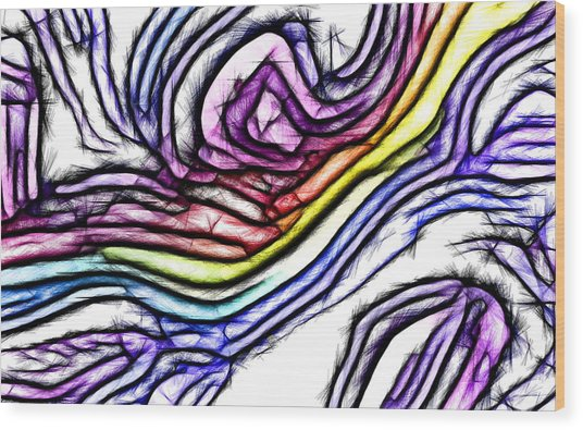 Rainbow Slide 1 Wood Print