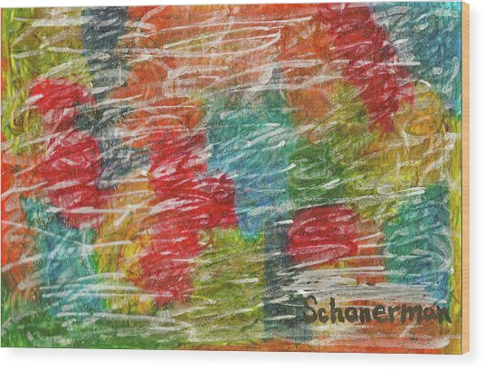 Rainbow Sparkle Wood Print