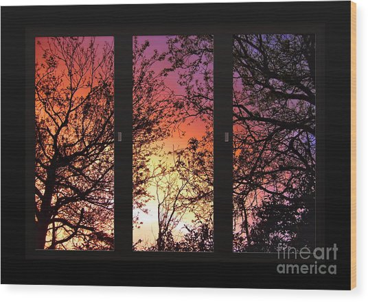 Rainbow Sunset Through Your Window Wood Print