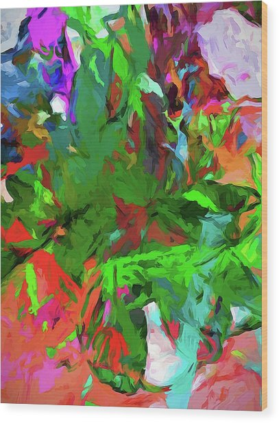 Rainbow Tropic Wood Print