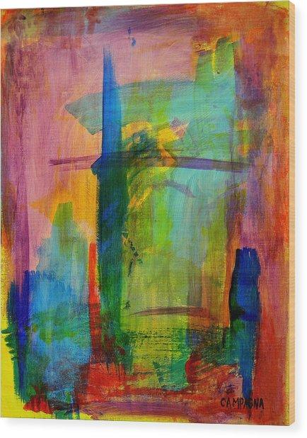Rainbow Wreck Wood Print