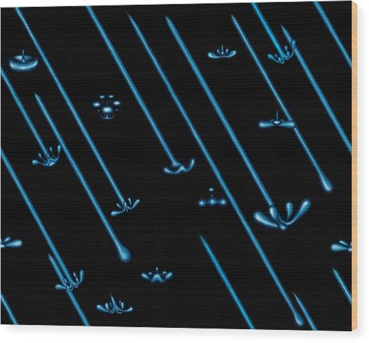 Raindance Iv - April Showers Wood Print