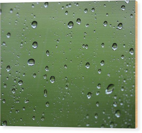 Raindrops  2 Wood Print