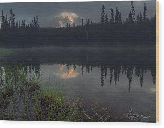 Rainier's Mood Wood Print