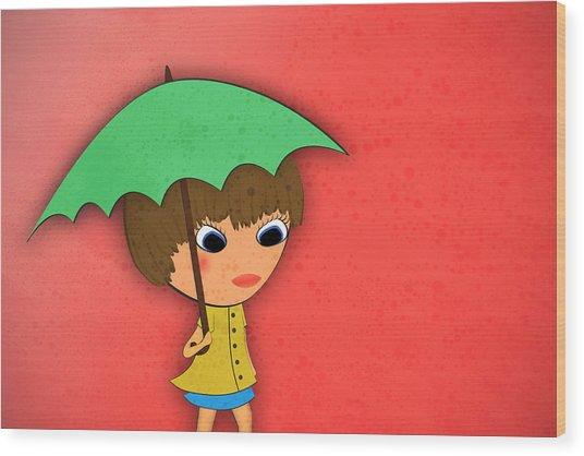 Rainy Wood Print by Abbey Hughes