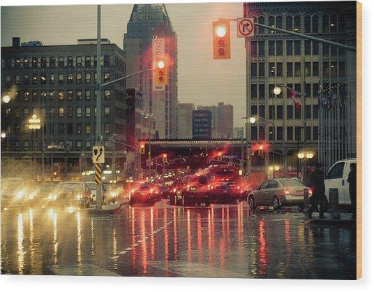 Rainy Day In Ottawa Wood Print