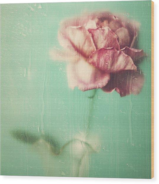 Rainy Day Romance Wood Print