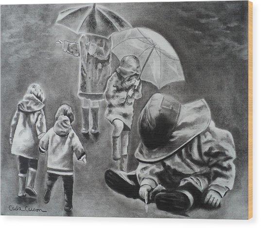 Rainy Daze Wood Print
