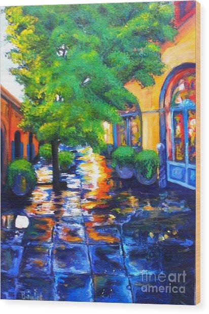 Rainy Dutch Alley Wood Print