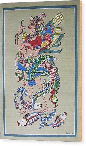 Raj Hanshi Fish Wood Print by Rabindra Meher