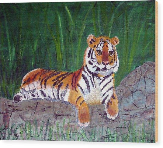 Rajah Wood Print by Marcia Paige