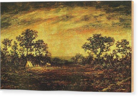 Ralph Blakelock, Indian Encampment Wood Print