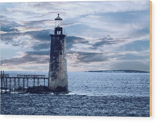 Ram Island Head Lighthouse.jpg Wood Print