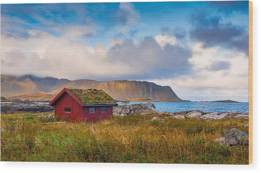 Ramberg Hut Wood Print