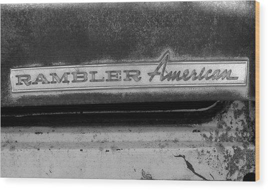 Rambler American Wood Print by Audrey Venute