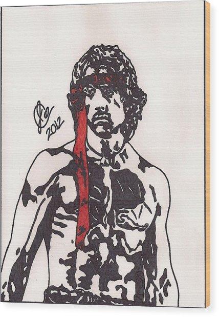 Rambo First Blood Part II Wood Print