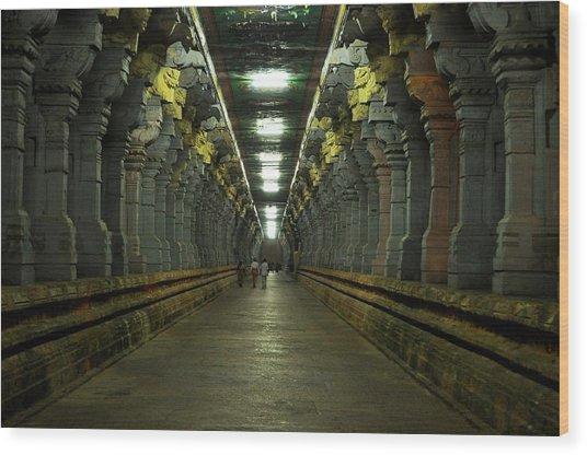 Rameshwaram Temple India Wood Print