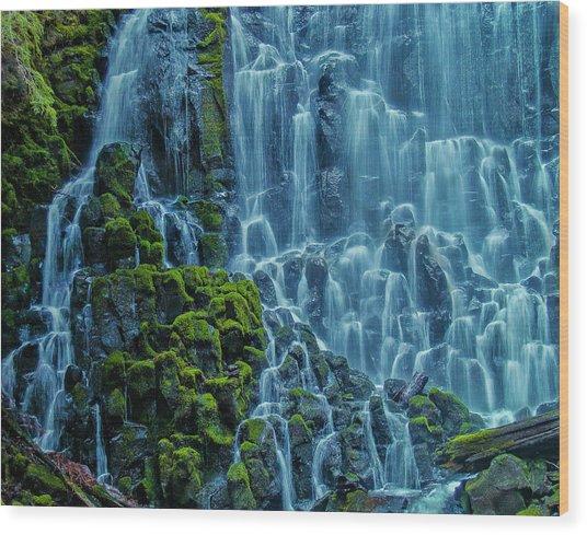 Ramona Falls  Wood Print