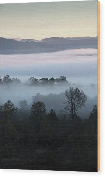 Ramona Landscape Layers Wood Print by William Dunigan