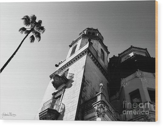 California Castle Wood Print