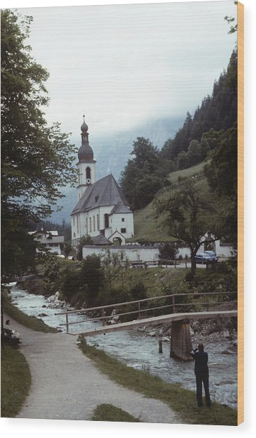 Ramsau Church Wood Print