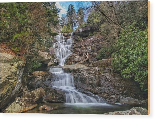 Ramsey Cascades - Tennessee Waterfall Wood Print