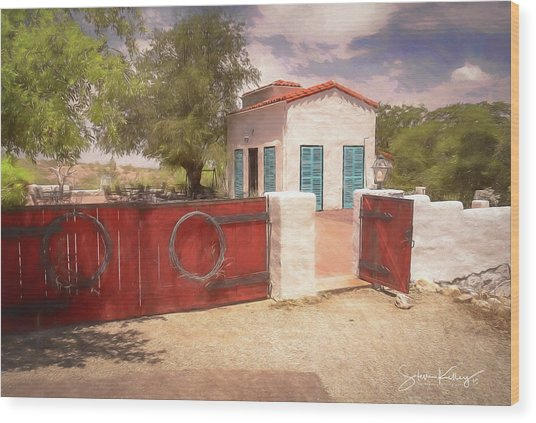Ranch Family Homestead Wood Print