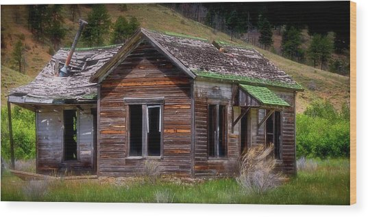 Ranch House From The Past Wood Print