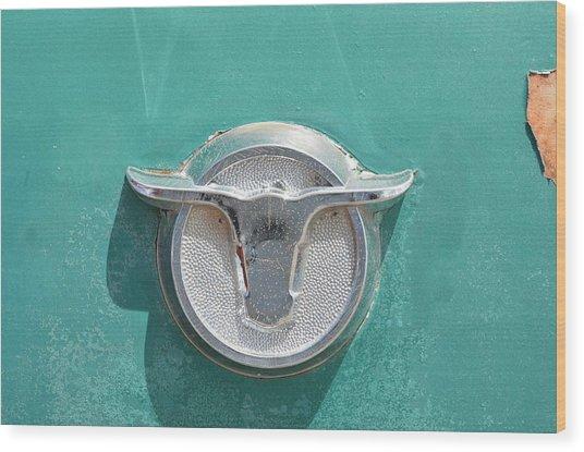 Ranchero Emblem Wood Print
